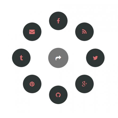 SVG - анимация поделиться в соц. сетях